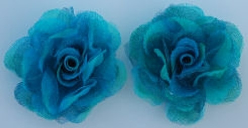 Rose Silk Flowers - Turquoise