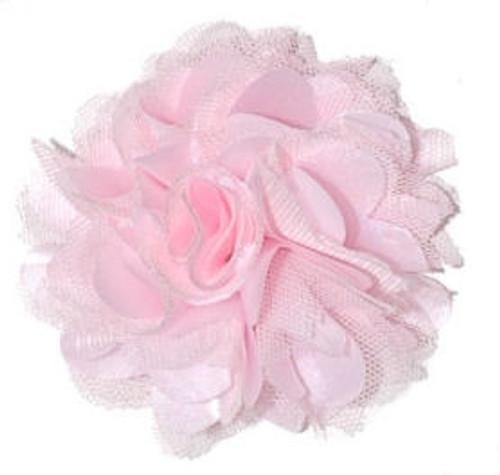 Rosette fabric flowers - Light Pink