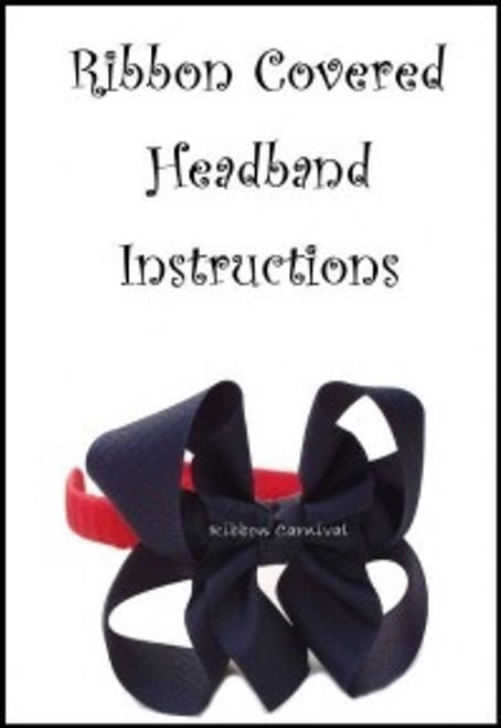 Ribbon Headband Instructions