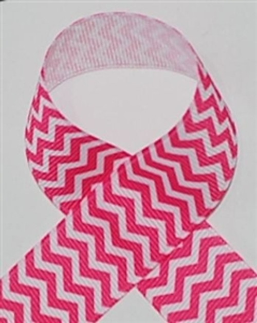 Chevron Ribbon | Hot Pink Chevron Ribbon | Printed Ribbon For Hair Bows