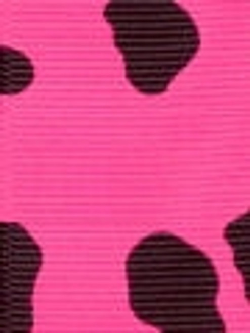 Hot Pink Cow Grosgrain Ribbon