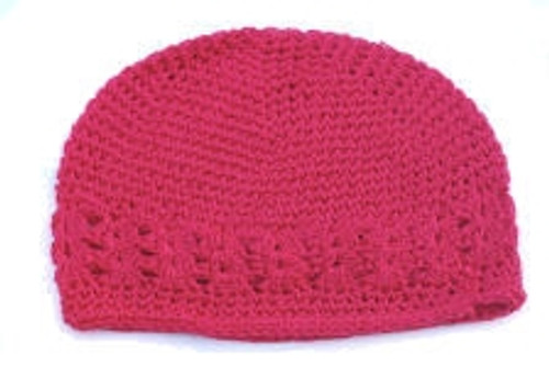 Hot Pink Crochet Kufi Hats
