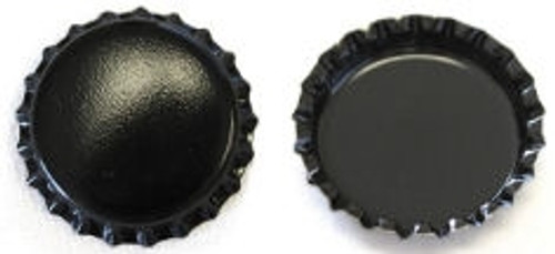 Black Two Sided Bottle Caps
