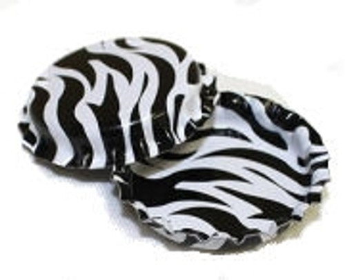 Zebra Two Sided Bottle Caps