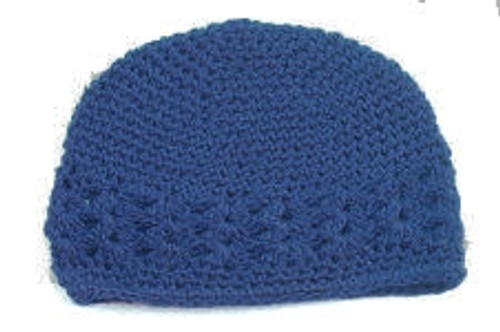 Blue Crochet Kufi Caps