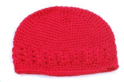 Crochet Kufi Hats - Red