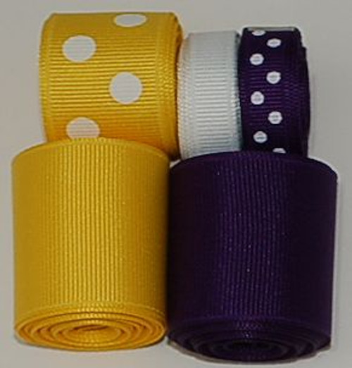 LSU College Ribbon Set | College Ribbon