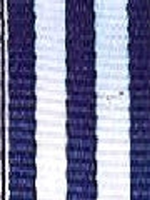 Navy and White Striped Ribbon