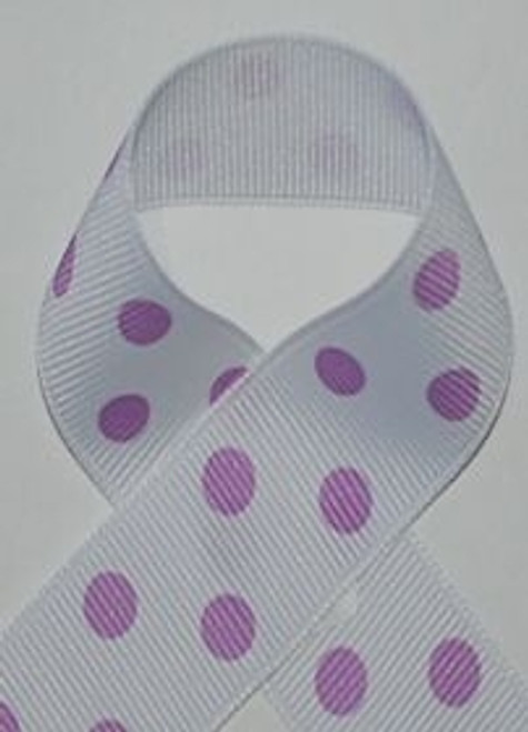 Dark Orchid Polka Dot Ribbon
