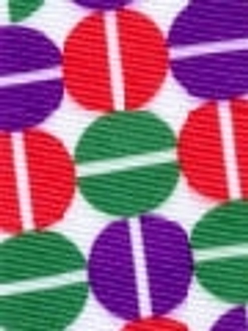 Split Pea Red and Green Multi  Grosgrain Ribbon