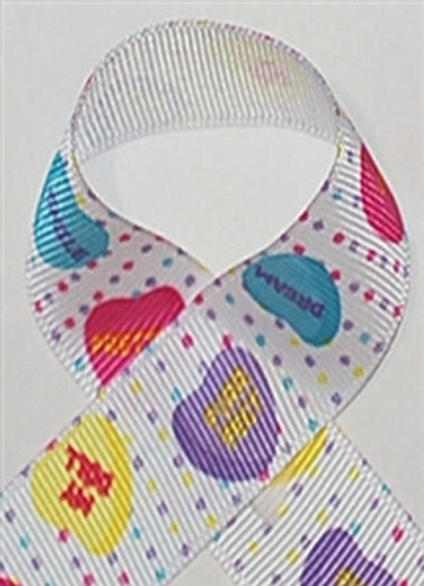 Candy Hearts Valentine Ribbon