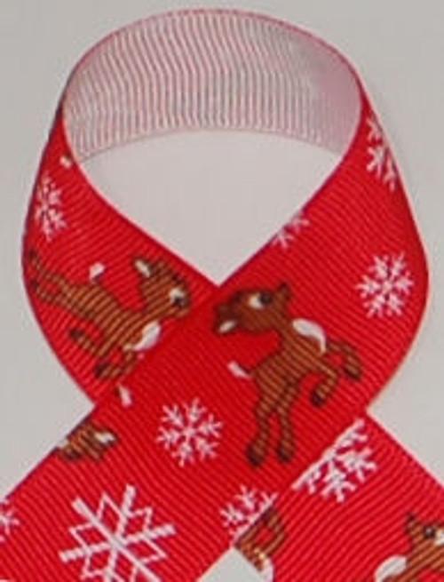 Reindeer Grosgrain Ribbon