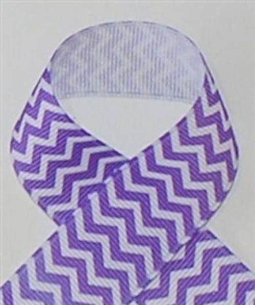 Chevron Ribbon | Purple Chevron Ribbon | Printed Ribbon For Hair Bows