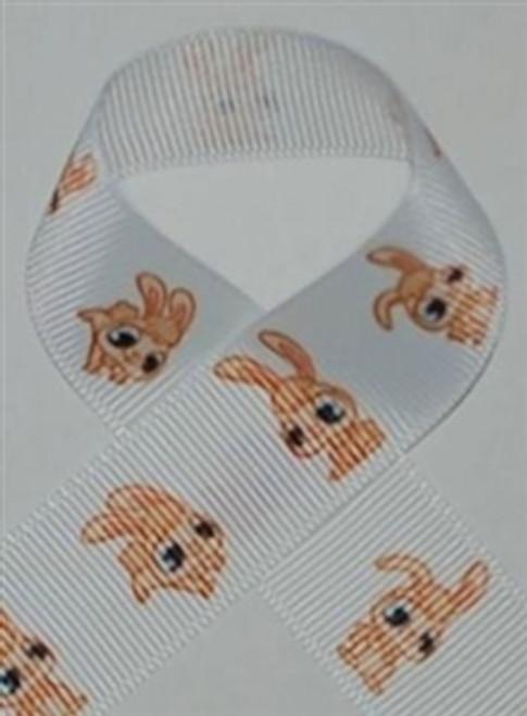 Bunnies Printed ribbon