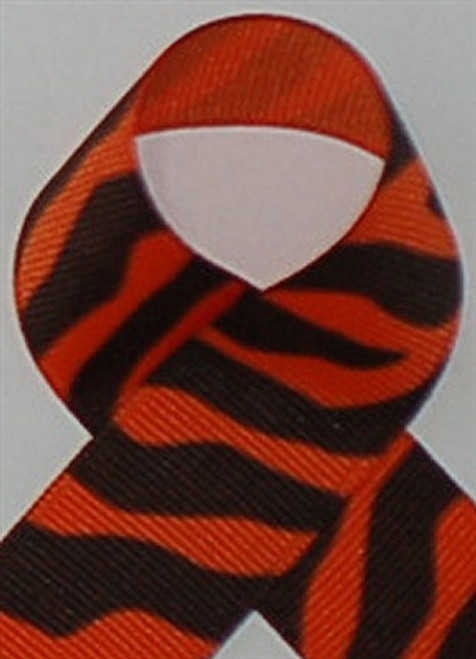 Orange Zebra Printed Ribbon. Great for hair bows, cheer bows,craft ribbon and more