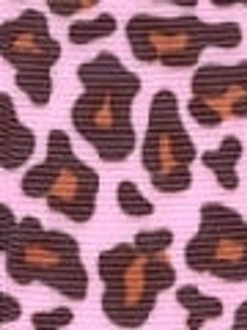 Light Pink Leopard Grosgrain Ribbon