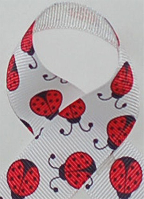 New Ladybugs Grosgrain Ribbon