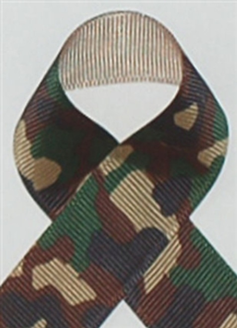 Olive Camouflage Printed Ribbon