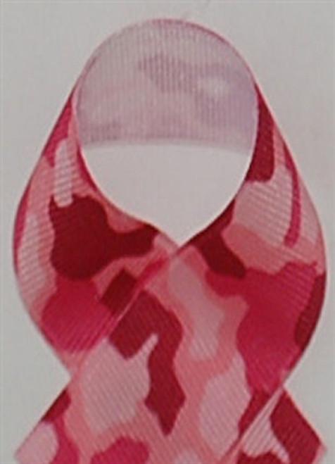 Pink Camouflage Printed Ribbon