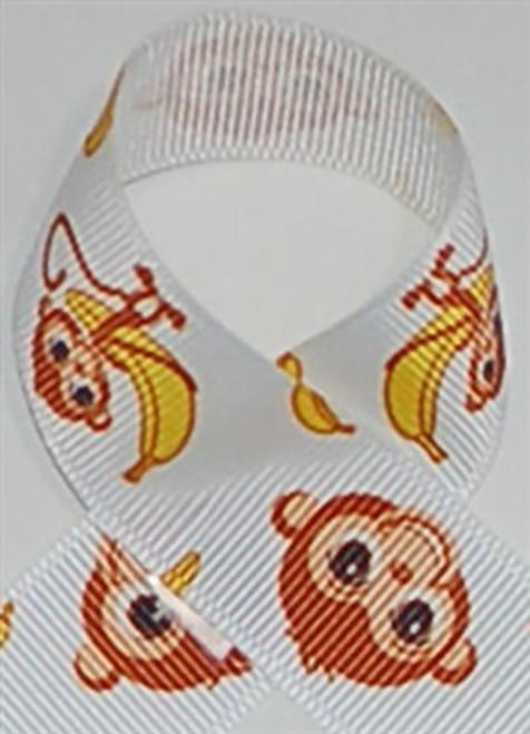 Funky Monkey Grosgrain Ribbon
