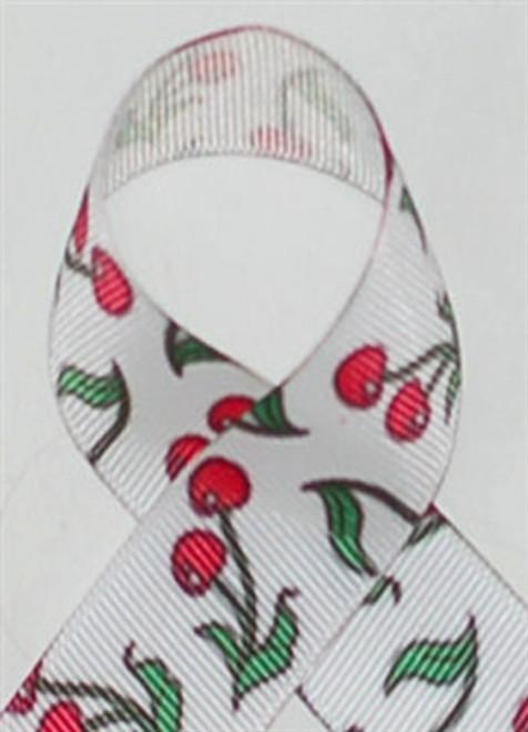 Cherries Grosgrain Ribbon