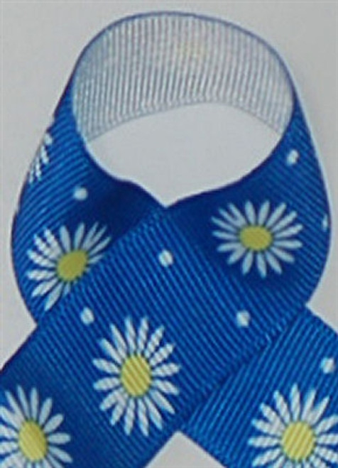 Blue Daisies Grosgrain Ribbon