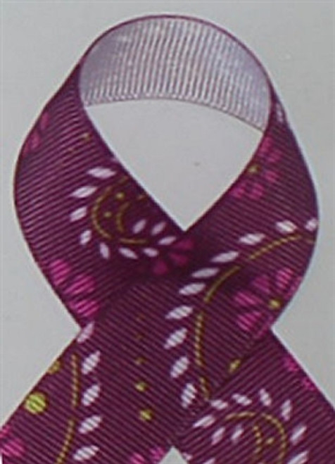 Paisley Purple  Grosgrain Ribbon
