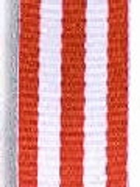 Red with White Stripe Ribbon