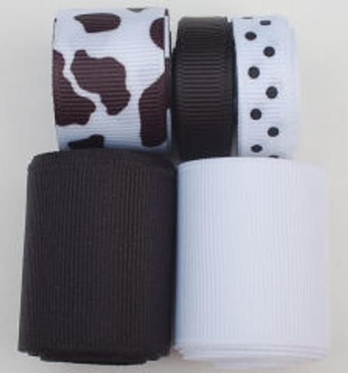 Cow Ribbon Mix Set