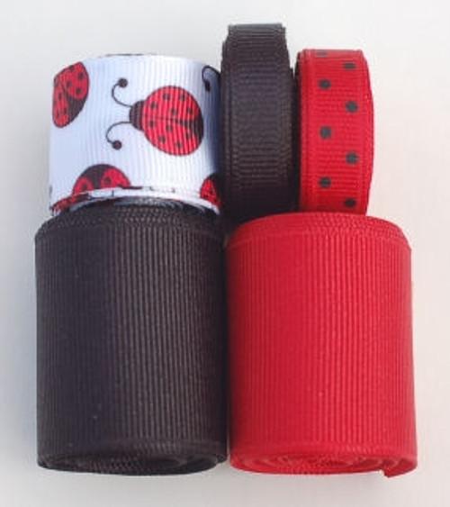 Ladybug Grosgrain Ribbon Mix