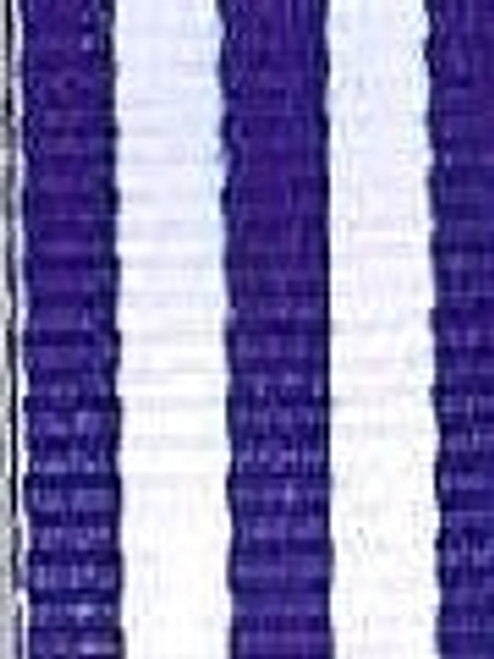 Royal and White Striped Ribbon