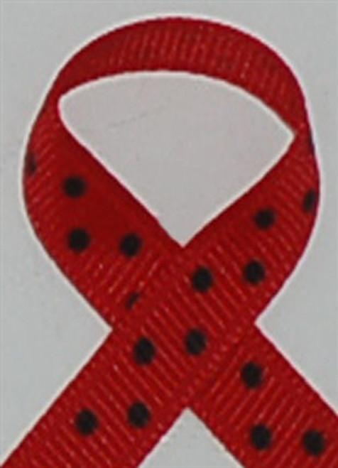 Red w/  Black Swiss Dots