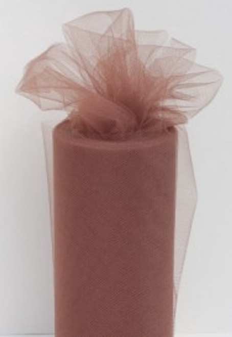 Brown Tulle Fabric