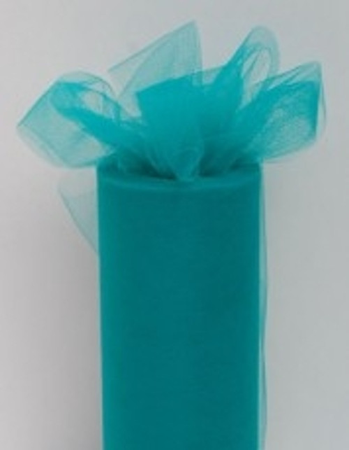 Teal Tulle Fabric