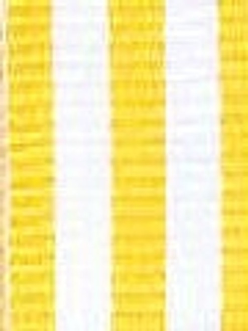 Yellow and White Striped Ribbon
