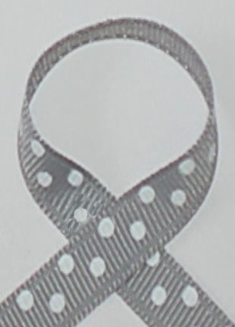 Millenium Silver Polka Dot Hair Ribbon
