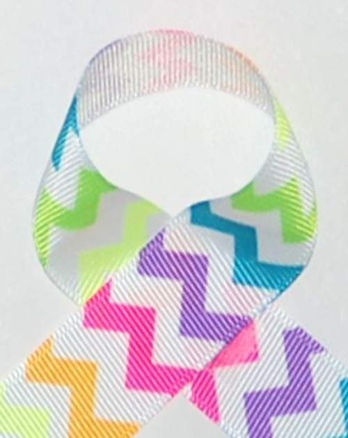 Neon Chevron Printed Ribbon | Chevron Ribbon | Printed Rbbon
