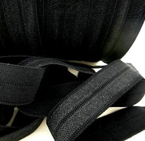 Black Fold Over Elastic Ribbon