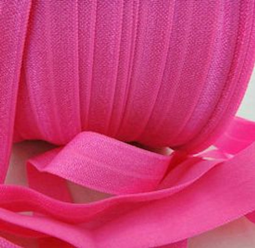 Hot Pink Fold Over Elastic Ribbon