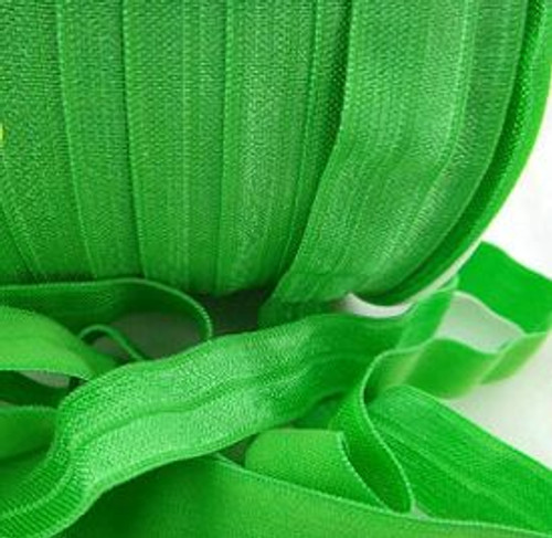 Bright Green Fold Over Elastic Ribbon