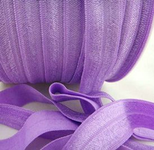 Purple Fold Over Elastic Ribbon