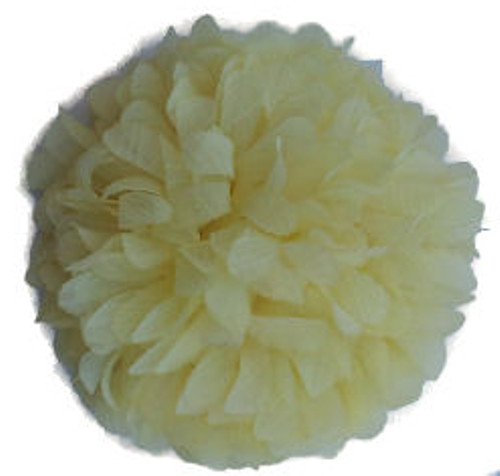 Yellow Chiffon Fabric Flowers