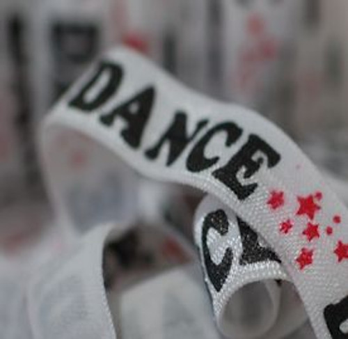 5/8 Dance Printed Fold Over Elastic