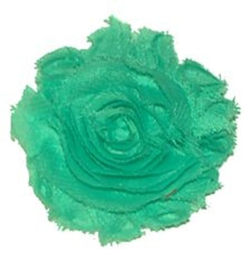 Aqua Shabby Chiffon Flowers
