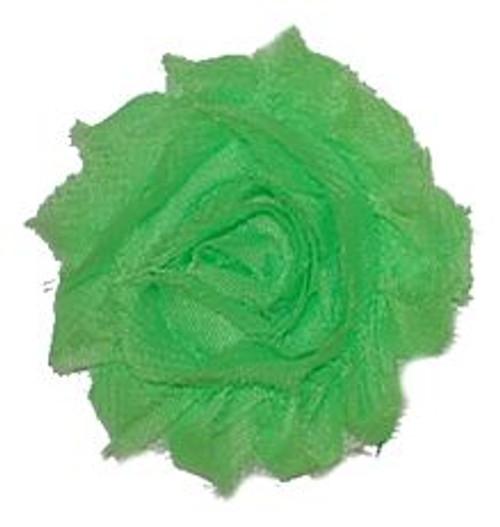 Neon Green Shabby Chiffon Flowers