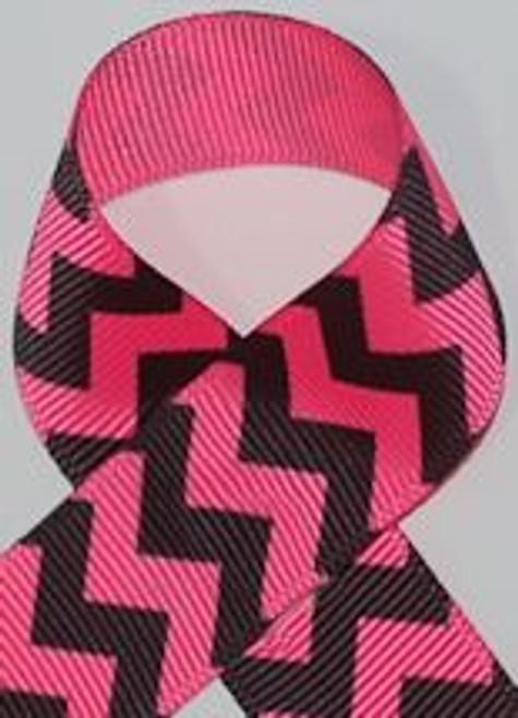 Neon Pink Printed Ribbon For Springtime Hair Bows