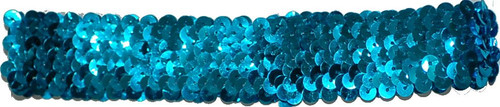 Turquoise Sequin Stretch Headbands for dance wear. Our Headbands Shine in your hair and look spectacular. Great pricing on Dance wear.