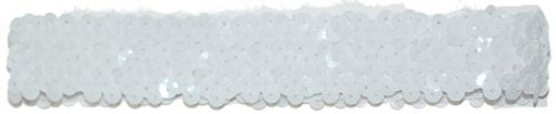White Sequin Stretch Headbands for dance wear. Our Headbands Shine in your hair and look spectacular. Great pricing on Dance wear.