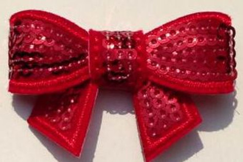 Red Sequin bows for small children. Our Sequin bows Shine in your hair and look spectacular.