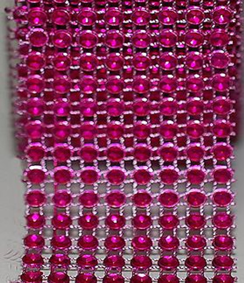Fuchsia Diamond Rhinestone ribbon.